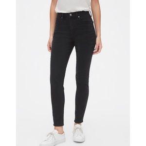 Gap True Skinny Super High Rise Tall Black Jeans